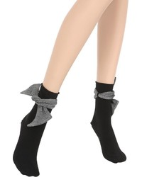 Pierre Mantoux Cotton Socks W Tie Details