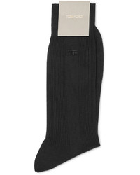 Tom Ford Embroidered Ribbed Cotton Socks