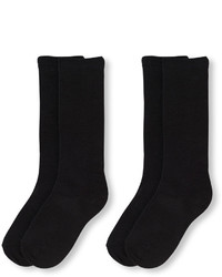 Children's Place Girls Solid Knee Socks 2 Pack