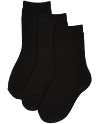Jefferies Socks Jefferies Ribbed Crew 3 Pack Charcoal 12 6