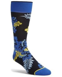 Bugatchi Large Flower Socks