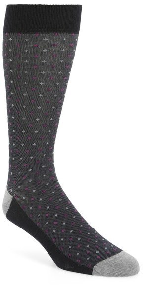 Ted Baker London Bird Eye Organic Cotton Blend Socks