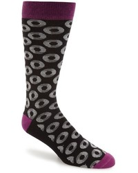 Ted Baker London Circle Pattern Organic Cotton Blend Socks