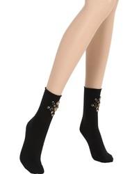 Pierre Mantoux Embellished Cotton Socks
