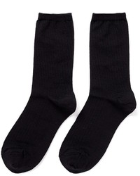 Hansel from Basel Rib Silk Crew Socks