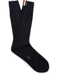 Thom Browne Ribbed Cotton Socks