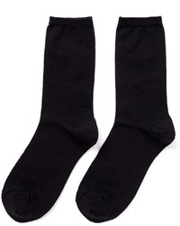 Hansel from Basel Silk Rib Crew Socks