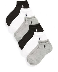 Ralph Lauren Sport 6 Pack Low Cut Socks