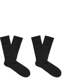 Hugo Boss Two Pack Cotton Blend Socks