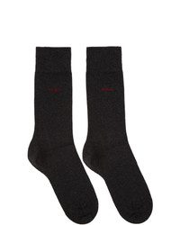 Hugo Two Pack Grey Logo Socks
