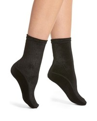 Nordstrom Velvet High Shine Crew Socks