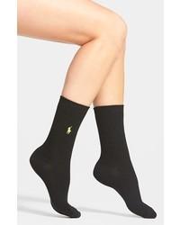 Ralph Lauren Waffle Knit Crew Socks