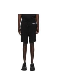 Moschino Black Broken Logo Shorts