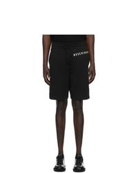 Moschino Black Fantasy Print Uomo Shorts