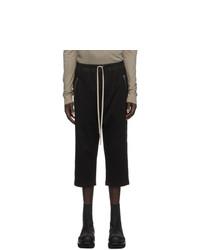 Rick Owens Black Jersey Lounge Pants