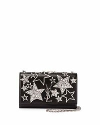 Saint Laurent Monogram Medium Star Chain Shoulder Bag Black