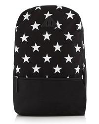 Topman Star Print Back Pack Black One Size