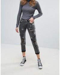 Glamorous Star Print Boyfriend Jeans