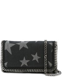 Black Star Print Crossbody Bag