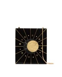Nathalie Trad Black Aurora Star Print Shell Shoulder Bag