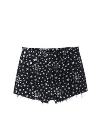 Saint Laurent Star Print Denim Shorts