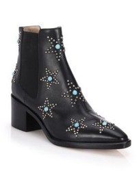 Valentino Star Studded Leather Booties