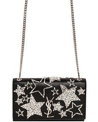 Saint Laurent Medium Kate Swarovski Stars Leather Bag
