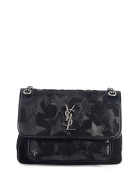 Saint Laurent Medium Niki Patchwork Suede Shoulder Bag
