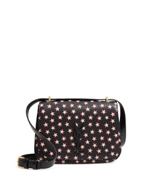Saint Laurent Small Spontini Star Print Leather Crossbody Bag