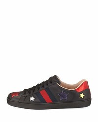 55513a91485 ... Gucci New Ace Star Low Top Sneaker Black ...