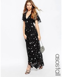 5b05e8cb835821 Women's Black Star Print Maxi Dresses from Asos | Women's Fashion ...