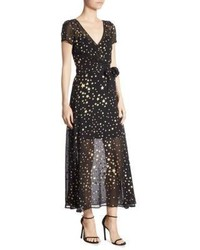 RED Valentino Redvalentino Mini Star Wrap Maxi Dress