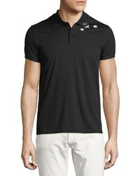Saint Laurent Star Collar Cotton Pique Polo Shirt