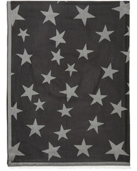 Stella McCartney Black Stars Scarf