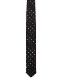 Neil Barrett Black Irregular Stars Skinny Tie