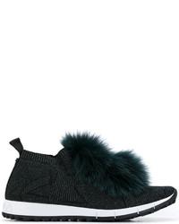 Jimmy Choo Fur Trim Norway Sneakers