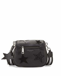 Marc Jacobs Star Patchwork Small Saddle Bag Blackmulti