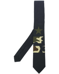 Givenchy Camouflage Star Print Tie