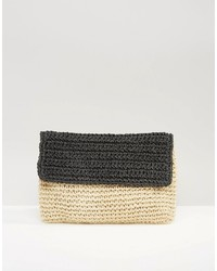 South Beach Paper Straw Clutch Bag