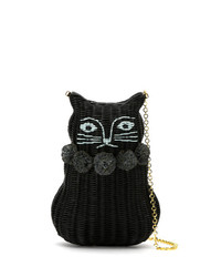 Serpui Straw Cat Clutch