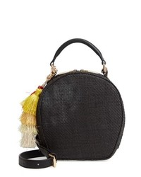 Deux Lux Grenada Woven Straw Circle Crossbody Bag