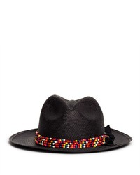 Nobrand Beaded Straw Panama Hat