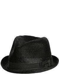 621fc70db81 Men s Black Straw Hats by Diesel