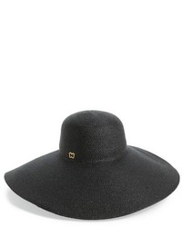 Floppy straw hat black medium 705561