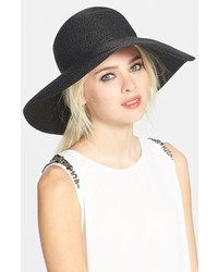 Hampton straw sun hat black medium 195328