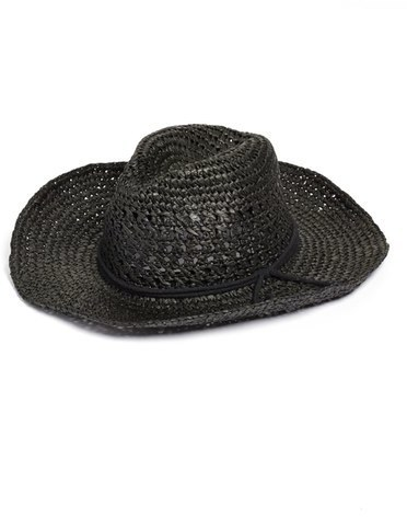 ca5456aa46eea9 Hinge Layla Open Weave Straw Cowboy Hat, $38 | Nordstrom | Lookastic.com