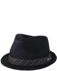 Ben Sherman Sewn Braid Straw Trilby Hat
