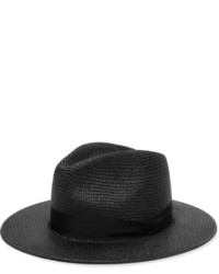 Rag & Bone Straw Panama Hat Black