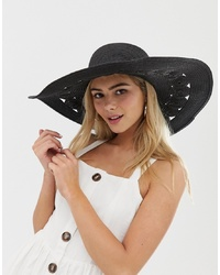 Miss Selfridge Sun Hat In Black