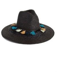 BCBGMAXAZRIA Tassel Straw Panama Hat